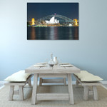 Sydney Harbour Bridge at Night Wall Print on the wall