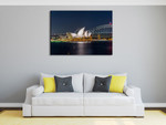 Sydney Opera House at Night Wall Print on the wall