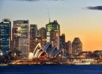 Sydney Opera House on Sunset Wall Print