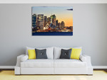 Sydney Opera House on Sunset Wall Print on the wall