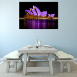 The Opera House at Night Wall Print on the wall