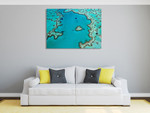 Whitsundays Island Great Barrier Reef Wall Print on the wall