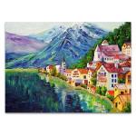 Austria Hallstatt Village Wall Art Print