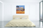Mountain Village Pastures Wall Art Print on the wall