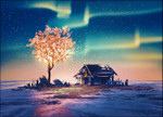 Fantasy Tree Lights Wall Art Print