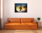 Floating Magical Island Wall Art Print on the wall
