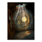 Mystical Metal Clock Wall Art Print
