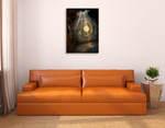 Mystical Metal Clock Wall Art Print on the wall