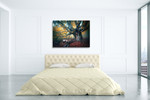 Old Fairy Tree Wall Art Print on the wall