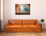 Shining Magical Sky Wall Art Print on the wall