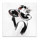 Red on Black III Wall Art Print
