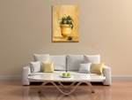 An Artichokes Wall Art Print on the wall