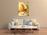 An Urn with Apples Wall Art Print on the wall