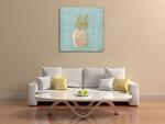 A Pineapple Wall Art Print on the wall