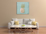 A Pineapple Wall Art Print on the wall