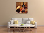 The Port and Pear Wall Art Print on the wall
