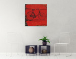 Bicycle I Wall Art Print on the wall