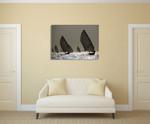 Boat Sailing Wall Art Print on the wall
