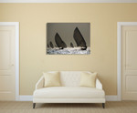 Boat Sailing Wall Art Print on the wall