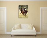 Jockey Horse Racing Wall Art Print on the wall