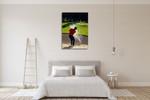 Man Playing Golf Wall Art Print on the wall
