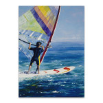 Ocean Wind Surfing Wall Art Print