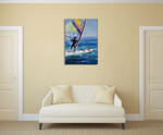 Ocean Wind Surfing Wall Art Print on the wall