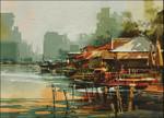 Fishing Village Wall Art Print