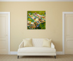 California Tanning Wall Art Print on the wall