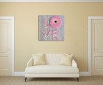 Flower of Love Wall Art Print on the wall