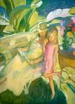 Garden Light Wall Art Print