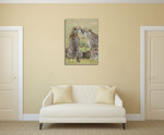 Loving Cheetah Wall Art Print on the wall