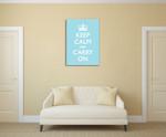 Keep Calm Wall Art Print on the wall