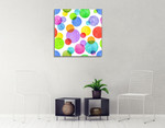 Colourful Bubbles Wall Art Print on the wall