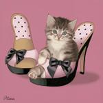 Kitten on High Heels Wall Art Print