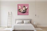 Kitten on High Heels Wall Art Print on the wall