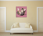 Kitten on High Heels Wall Art Print on the wall