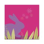 Purple Bunny Wall Art Print