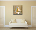 Sailboat I Wall Art Print on the wall