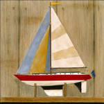 Sailboat I Wall Art Print