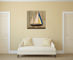 Sailboat II Wall Art Print on the wall