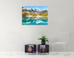 Alaska Glacier Bay Wall Art Print on the wall