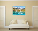 Alaska Glacier Bay Wall Art Print on the wall