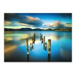 Blue Lake Sunset Wall Art Print
