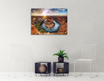 Horseshoe Bend Colorado River Wall Print on the wall