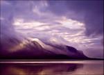 Misty Lake Coast Wall Art Print