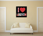 I Love London Wall Art Print on the wall