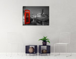 London Red Telephone Box Wall Print on the wall