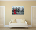 London Street Red Telephone Wall Print on the wall