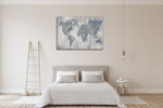 Map of the World V4 Wall Print on the wall